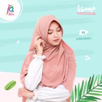 Jilbab Afra Asli Arfa Khansa Daily Khimar Serut Hijab Instant Caramel
