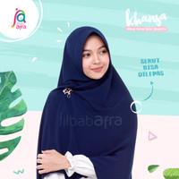Jilbab Afra Arfa Khansa Khimar Serut Khanza Hijab Instant Navy Blue