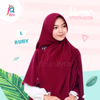 Jilbab Afra Arfa Khansa Daily Khimar Serut Khanza Hijab Instant Ruby