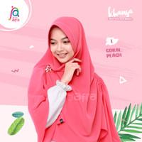 Jilbab Afra Asli Arfa Khansa Khimar Serut Hijab Instant Coral Peach