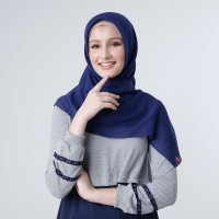 ZOYA Special Hampers Maruna Plain Light Navy dan Ciput RS White