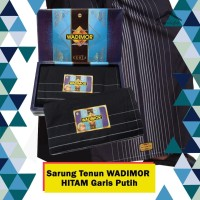Sarung WADIMOR HITAM POLOS Sarung Tenun Satuan/Grosir - Hitam