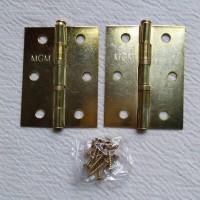 Engsel Pintu Jendela 3 Inch Gold