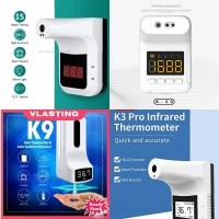 Termometer otomatis K3 wall mounted Garansi 1 Tahun - K-3S, Tanpa Stand