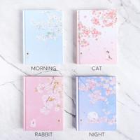 Dear Cherry Blossom Hardcover Mixed Notebook B6 / Buku Tulis B6