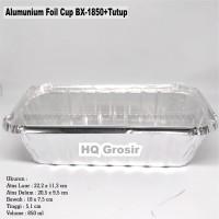 Alumunium Foil Cup BX-1850+Tutup, Lasagna, Macaroni Schotel