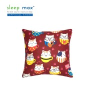 Sleep Max Cushion/Bantal Sofa Bahan Katun 45x45 Cm - Cat Red