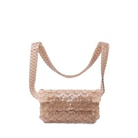 Byo Fragment Belt Bag in Taupe