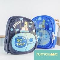 RUMAUMA Go Trip Tas Sekolah Ransel Anak Perempuan Laki SD Karakter Kid