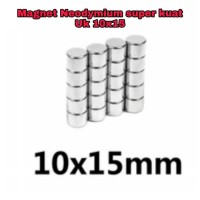 Magnet Neodymium 10x15 mm Super Kuat Rarely magnet - Silver
