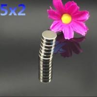 Magnet Neodymium 5x2 mm Super Kuat Rarely magnet - Silver