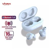 Headset Bluetooth Vivan Liberty T100 TWS1 Wireless Earbuds Earphone