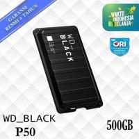 WD Black P50 SSD External 500GB Game Drive USB C - WD SSD 500 GB ORI