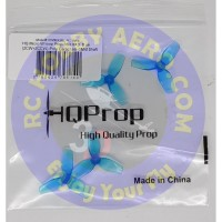 HQ Micro Whoop Prop 31MMX3 (2CW+2CCW)-Poly Carbonate-1MM Shaft (Blue)