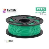 SUPEL Filament Filamen Tinta Printer 3D PETG 1.75 mm Green| Hijau