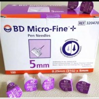 Jarum Insulin BD MICRO FINE 4mm/insulin ungu/bd insulin 4mm