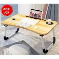Meja Lipat Belajar Laptop Desk Table Serbaguna Anti Slip Slot Gelas On