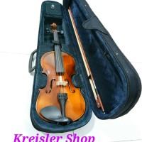 Biola Dluxe biola violin merk Deluxe dengan case rosin bow