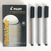Pulpen Pilot Ball Liner ( Ball Liner Medium 0.8mm ) - Hitam
