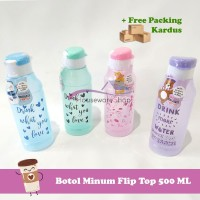 Botol Minum Flip Top Anak Souvenir Ulang Tahun Murah - 500 ML