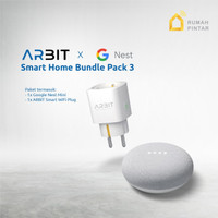 Google Home Nest Mini 2 Garansi resmi TAM X ARBIT Smart Plug Socket