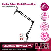 Holder Tablet Model Boom Arm Table Lazypod Stand - D9 - Black
