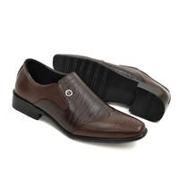 Sepatu Pantofel Pria Kulit Asli Formal Anti Slip Bukan Kickers f7001