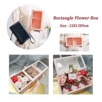 Rectangle Flower Bunga - Kotak Kado Lipat - Kotak Bunga