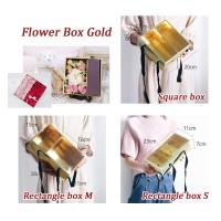Flower Box Gold - Kotak Kado Lipat - Kotak Bunga