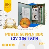 POWER SUPPLY 12V 30A BOX PANEL / ADAPTOR PSU 12V 30A 18CH UNTUK CCTV