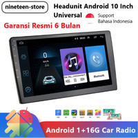 Headunit Android Universal 10 Inch Double Din Head Unit Tape Mobil