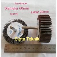 Fan Grinder 60x20 grit 120 - Amplas kipas