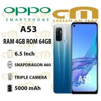 Oppo A53 4/64 RAM 4GB ROM 64GB GARANSI RESMI OPPO