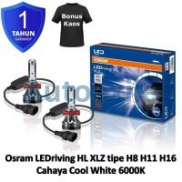 Osram LEDriving XLZ New Gen H8 H11 H16 White 6000K B6211CW Lampu Mobil