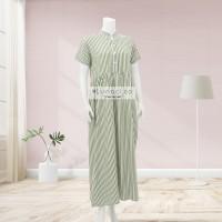 Lunaci Mint Stripes Maxi Dress