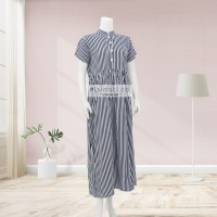 Vertical Black Stripes Maxi Dress