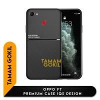 Case OPPO F7 Premium Case Magnetic IQS Design - Hitam