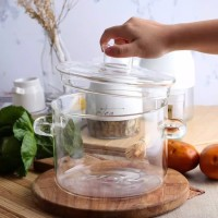 Glass Cooking Pot with Lid | Panci Tutup Kaca Small REJECT Sisa Export