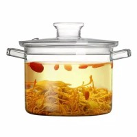 Glass Cooking Pot with Lid | Panci Tutup Kaca Large REJECT Sisa Export