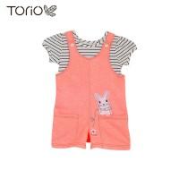 Torio Cute Bunny Overall Set - Baju Setelan Jumper Anak Perempuan