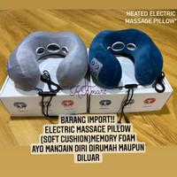 Bantal Pijat Elektrik/ U shaped PIllow Massager/ Electric Neck Massage - Biru