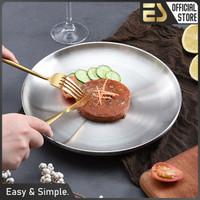 ES Piring Stainless Steel 304 Piring Makanan Barat Piring Serbaguna