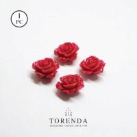 Torenda Jewelry Rose Acrilyc Small Pink ( col 54 ) - Bunga Rose / PCS