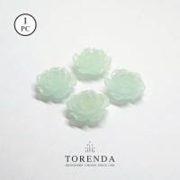 Torenda Jewelry Rose Acrilyc Small Biru (col.27) - Bunga Rose / PCS