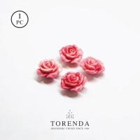 Torenda Jewelry Rose Acrilyc Small Pink (col.51) - Bunga Rose / PCS