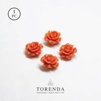 Torenda Jewelry Rose Acrilyc Small Orange (col.59) - Bunga Rose / PCS