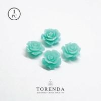 Torenda Jewelry Rose Acrilyc Small Biru ( col 34 ) - Bunga Rose / PCS