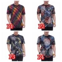 Kaos Batik pria - Motif RainBow - Fashion pria - Kaos Pria