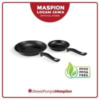 Maspion Frypan Set 18 Cm + 23 Cm 2 Pcs Black - Frypan Antilengket