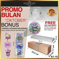 Kotak Kue Bolu | Cake Box | Kotak Packaging Kue (33.5x9.5x7.7) Kraft - A1-10